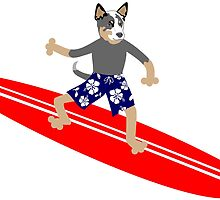 Australian Cattle Dog Surfer by pounddesigns