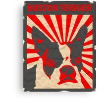 Propaganda Boston Terrier Canvas Print