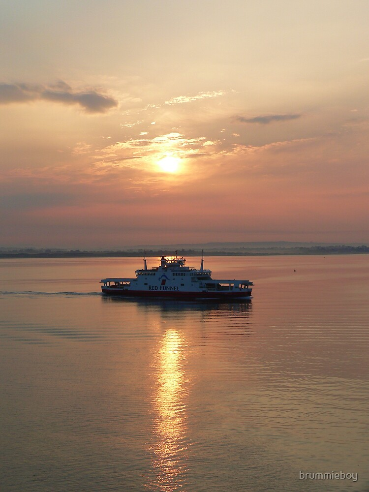 Sunrise on the Solent by brummieboy
