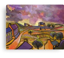 A tuscan landscape (from my original acrylic painting) Canvas Print