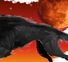 Blood Moon Wolf Sticker