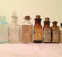 Antique Medical Bottles by Lagoldberg28