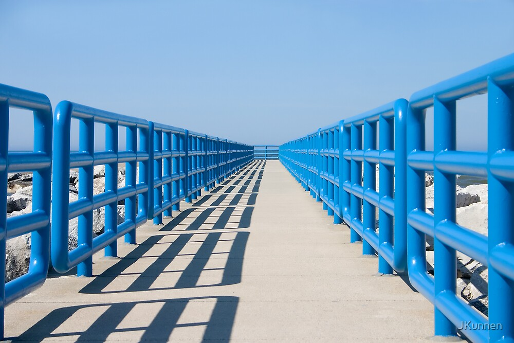 Walkway In Blue by JKunnen