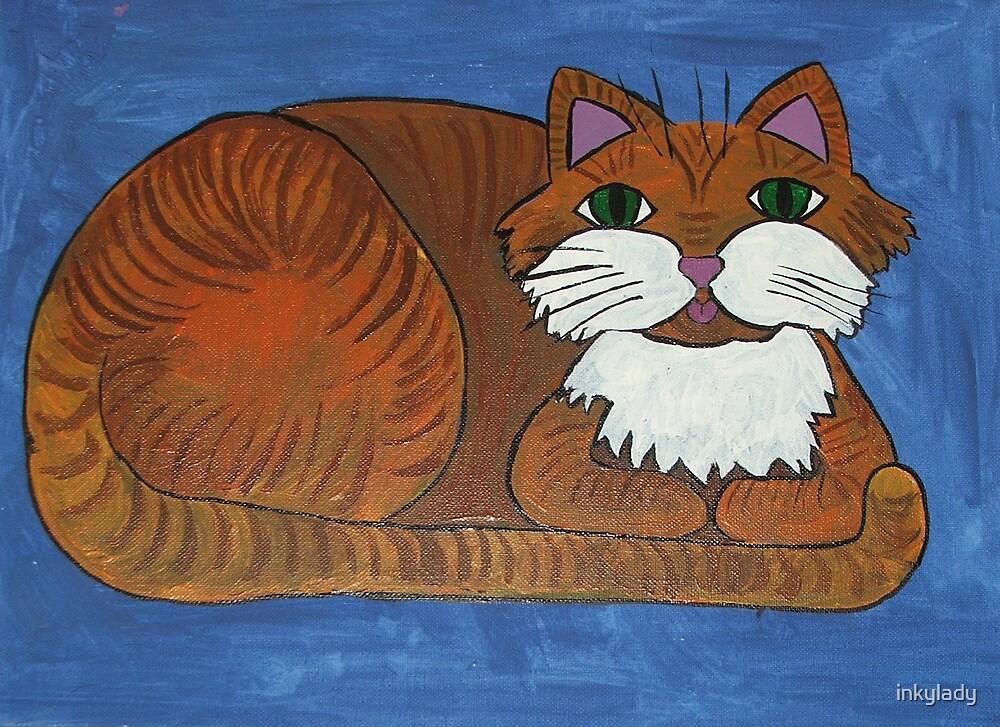 marmalade cat  by inkylady