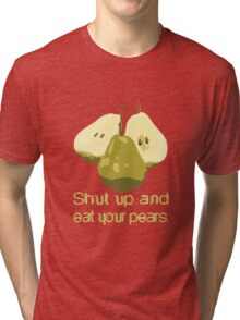 Just eat them. No talking. Tri-blend T-Shirt