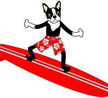 Boston Terrier Surfer by pounddesigns