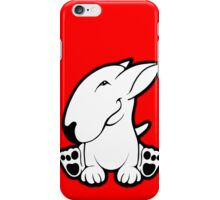 Side Sit English Bull Terrier  iPhone Case/Skin