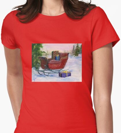Sleigh Womens Fitted T-Shirt