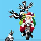 Santa and the magpies by goanna