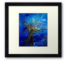 when trees embrace Framed Print