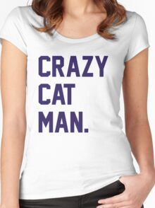 Crazy Cat Man Women's Fitted Scoop T-Shirt