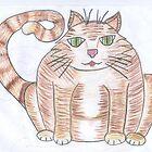 fat cat by inkylady