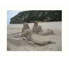 Sand Mermaid Art Print