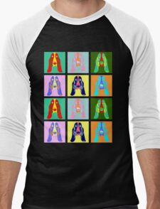 Basset Hound Pop Art Men's Baseball ¾ T-Shirt