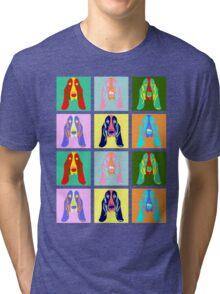 Basset Hound Pop Art Tri-blend T-Shirt