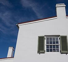 Window in white wall by Anne Scantlebury