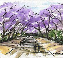 University Street in purple glory by elsa