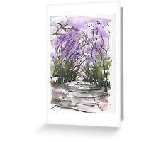 Purple Fantacy Greeting Card