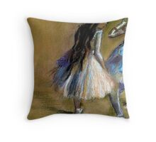 After Degas/ dancers/pastel Throw Pillow