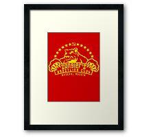 Zangief's Wrestling Club Framed Print