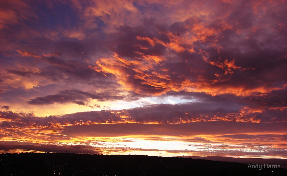 The skys on fire... by Andy Harris