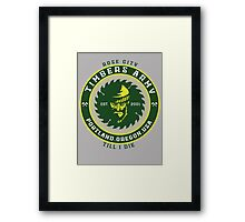 Rose City Till I Die Framed Print