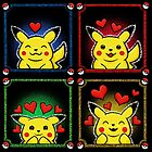 happy heart pikachus by likelikes