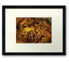 valley of the fire horses Framed Print