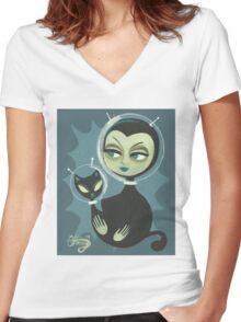 Martian Beauty Women's Fitted V-Neck T-Shirt