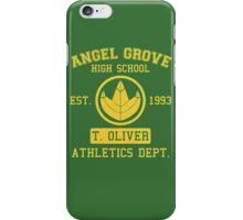 Angel Grove H.S. (Green Ranger Edition) iPhone Case/Skin