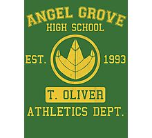 Angel Grove H.S. (Green Ranger Edition) Photographic Print