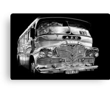 Silver (bus) Surfer Canvas Print