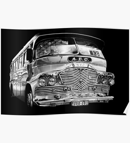Silver (bus) Surfer Poster