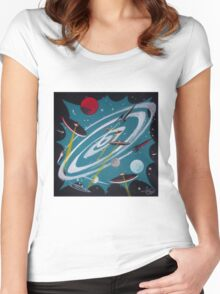 Space Hole Women's Fitted Scoop T-Shirt