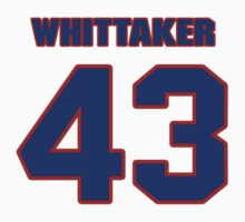 National football player Fozzy Whittaker jersey 43 by imsport
