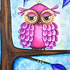 Fuschia Owl by Kristy Spring-Brown