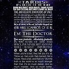 Doctor Who TARDIS Typography by Darth-Sarah