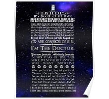 Doctor Who TARDIS Typography Poster