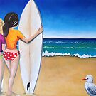 Surfer girls by Kristy Spring-Brown