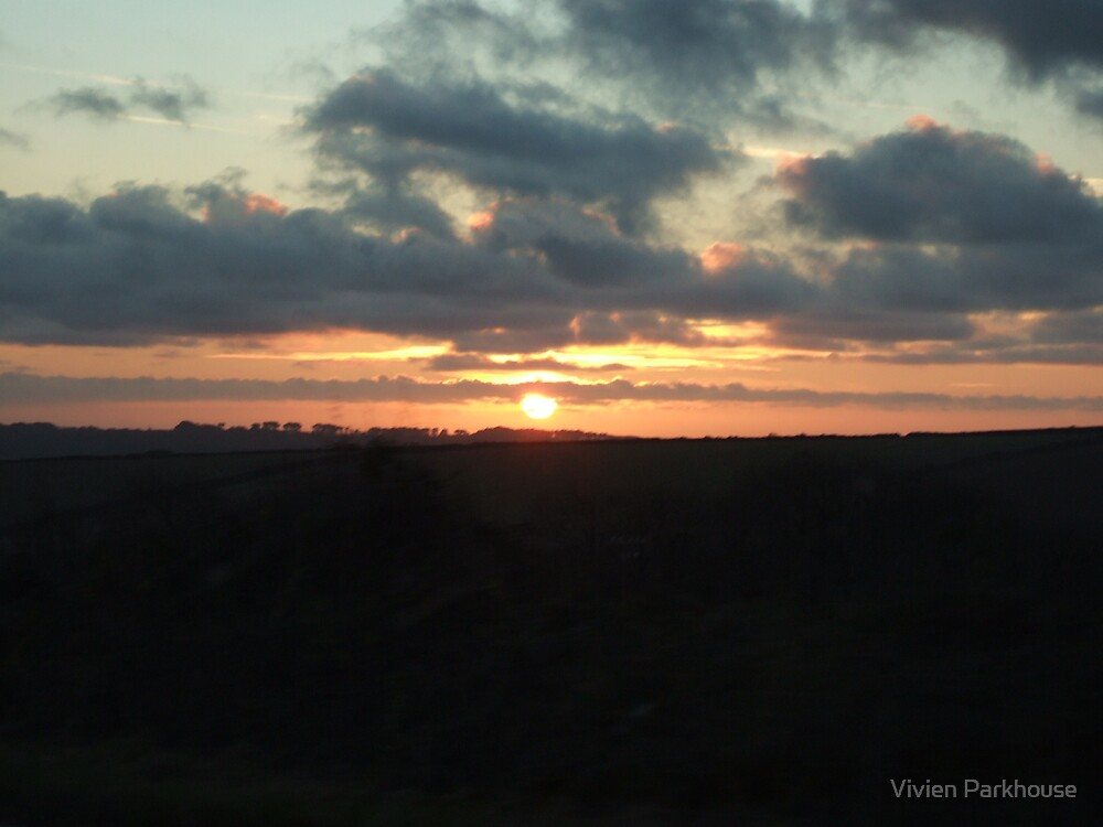 Sunset over the Hils by Vivien Parkhouse