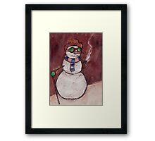 Steampunk Snowman Framed Print