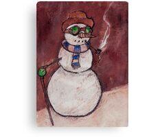 Steampunk Snowman Canvas Print