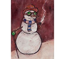 Steampunk Snowman Photographic Print