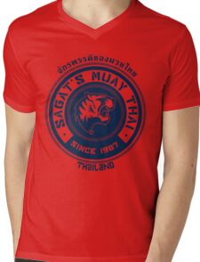 Sagat's Muay Thai Mens V-Neck T-Shirt