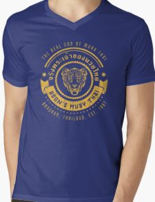 The Real God of Muay Thai Mens V-Neck T-Shirt
