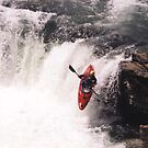 Kayak Leap 1 by Al Bourassa