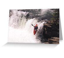 Kayak Leap 1 Greeting Card