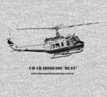 Huey Helicopter Graphic Kids Clothes