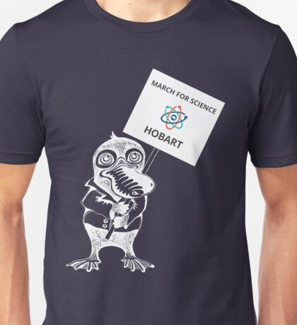 March for Science Hobart – Platypus, white Unisex T-Shirt