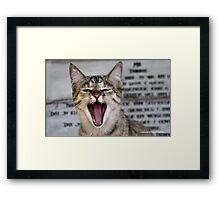 HAHAAHAHA  VERY FUNNY - YOUR HOMEWORK FOR THE DAY CLASS!!! Framed Print